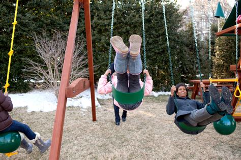 swinging he file obama family on the white house playground jpg