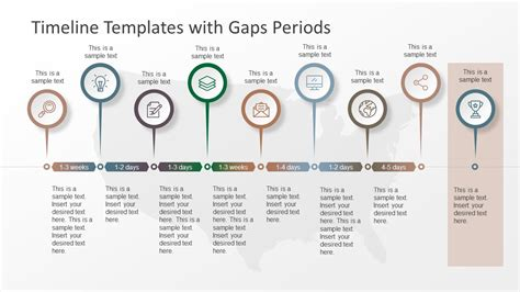 Timeline Templates With Gaps Periods Slidemodel Timeline Template Powerpoint