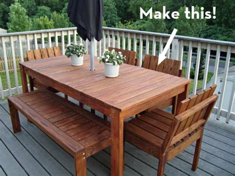 make it a simple outdoor dining table on the cheap curbly