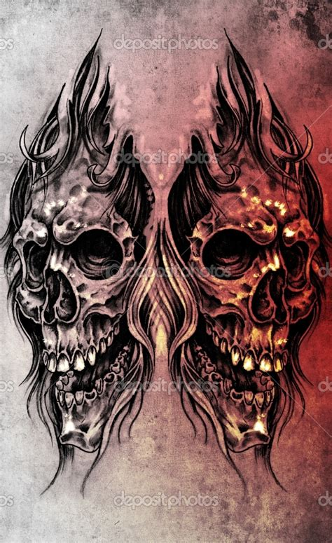 crazy skull tattoo designs cool ink tattoos designs skull tattoos