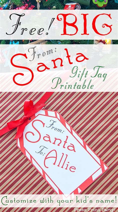 printable giant gift tags big free printable christmas gift tag press print party