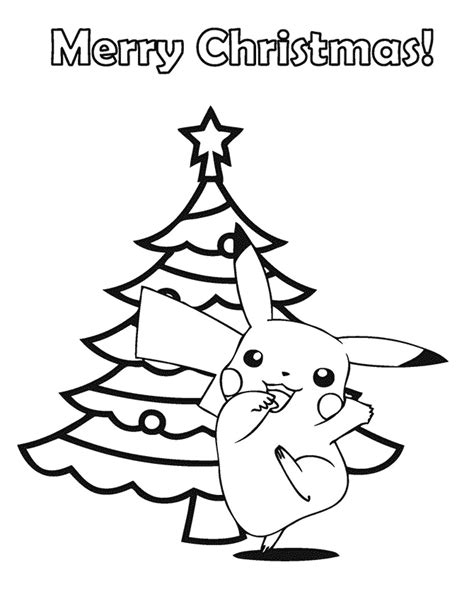 pokemon merry christmas coloring page   coloring pages