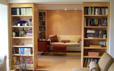bookcase divider wall contemporary home office