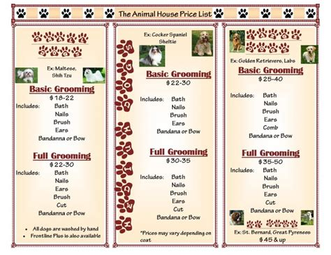 puppy price list term i s graphics