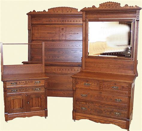 eastlake bedroom furniture antique bed set oak eastlake spoon carved bed set
