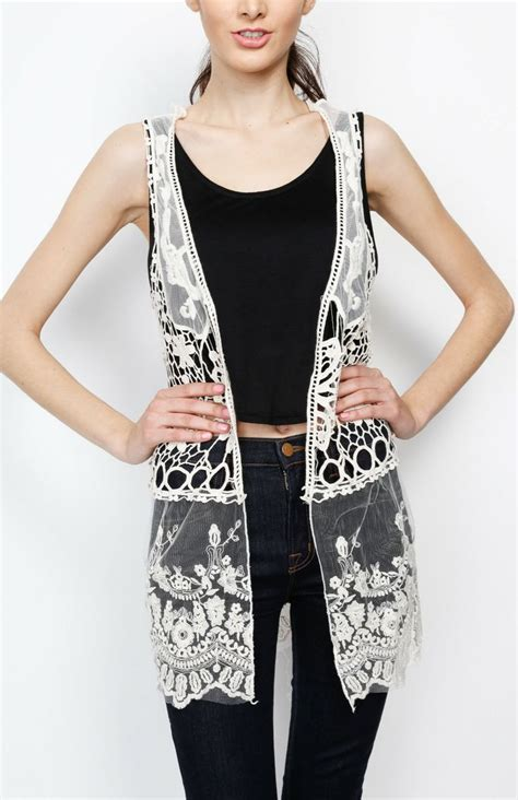 Cardigan Atasan Wanita Typograph Vest 1000 images about sleeveless cardies on vests cardigans for and drops design