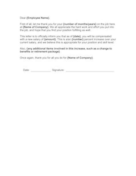 Annual Raise Letter Sle Letter Notifying An Employee Of His Annual Salary Increase Free To And Print