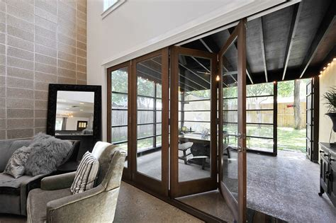 Accordian Patio Doors by Erik Ulland S Sunroom Design Featured On Houzz H Uo