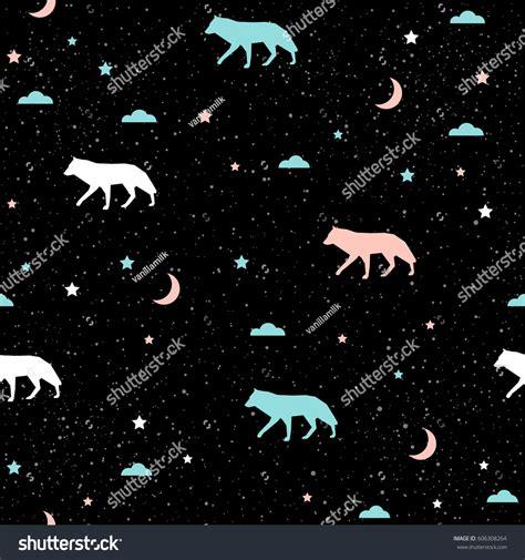 wolf pattern stock handmade wolf seamless pattern background abstract stock