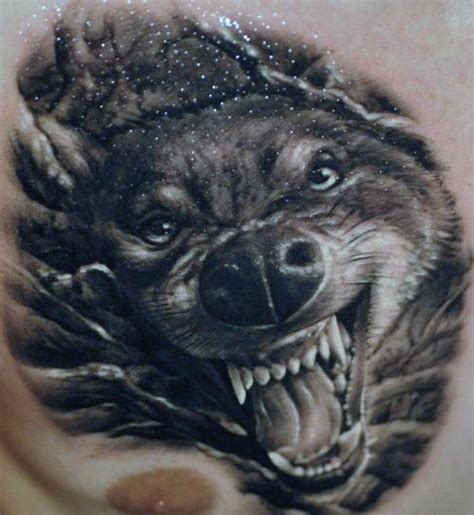 3d tattoo wolf designs 50 realistic wolf tattoo designs for men canine ink ideas