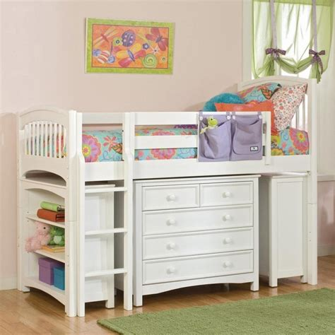 kids low loft bed windsor low loft white traditional kids beds by