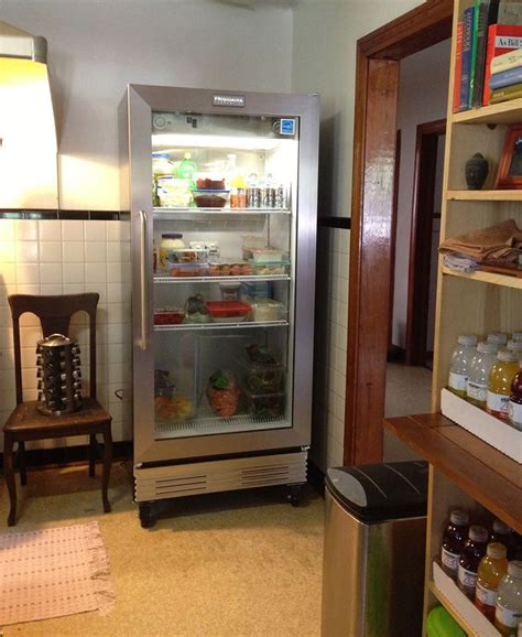 a glass door refrigerator for a change of pace kathy s