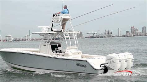 mako boats 334 cc mako 334 cc test 2016 by boattest youtube