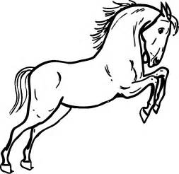 Jumping Horse Coloring Page sketch template