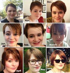 year  growing   pixie cut  fabulous     hair pinterest