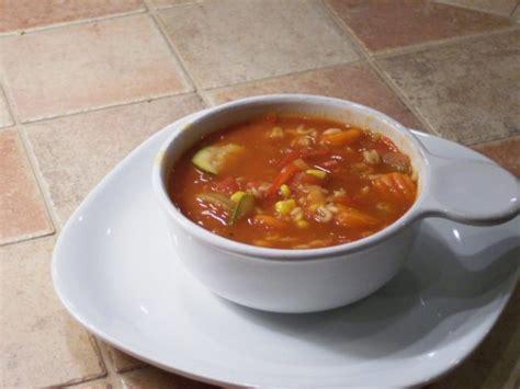 Panera Bread Garden Vegetable Soup Garden Tomato Vegetable Soup Recipe Food