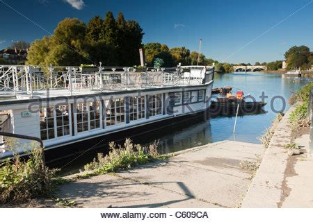 thames river cruise surrey surrey river thames cruise boat stock photo royalty free