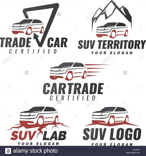 car service logo set of suv car service logo templates automotive repair