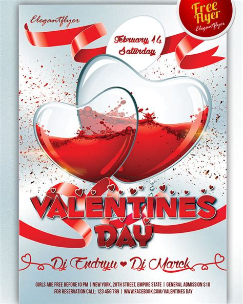 valentines flyer template 25 psd flyers elements for st s day free