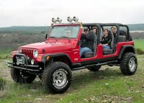 it s a stretched jeep 4 seats and a bench in the