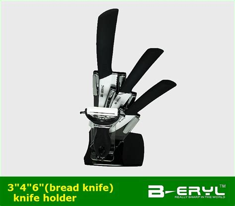 Set Of 4 Knives Peeler beryl 6pcs set 3 quot 4 quot 6 quot bread knife peeler knife holder