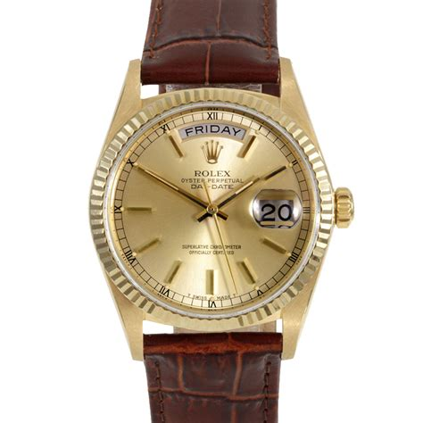 rolex day date gold price used