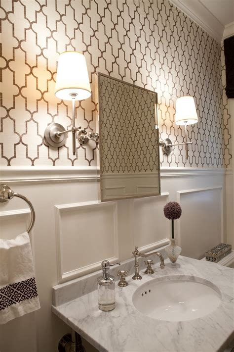 pinterest wallpaper powder room thomas o brien lighting powder room transitional with