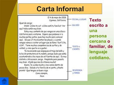 carta formal y una informal lenguaje y comunicaci 243 n ppt descargar