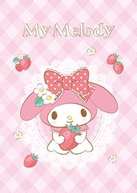 themes line my melody my melody strawberry sweetness line theme line store