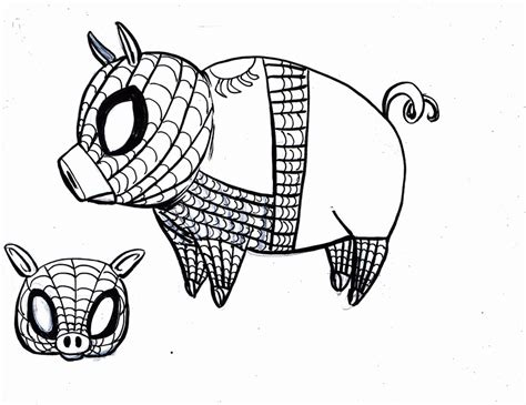 spider pig coloring page outline of a pig coloring home