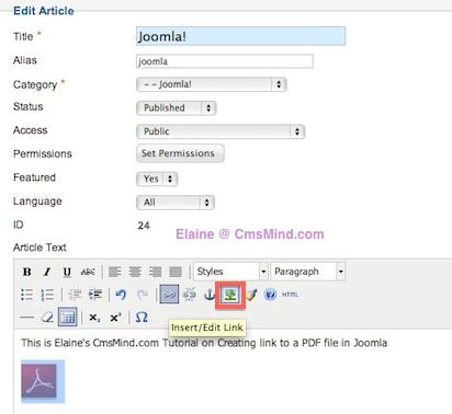 joomla tutorial pdf 2 5 joomla 2 5 tutorials how to add link to a pdf file in joomla