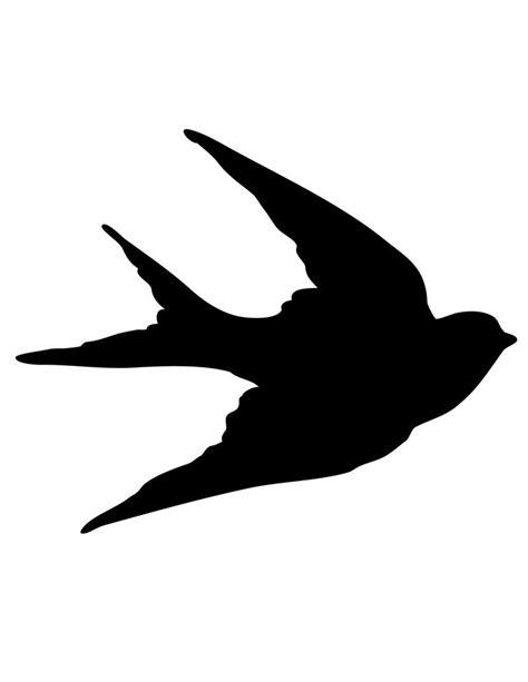 silhouette templates bird silhouette template clipart best
