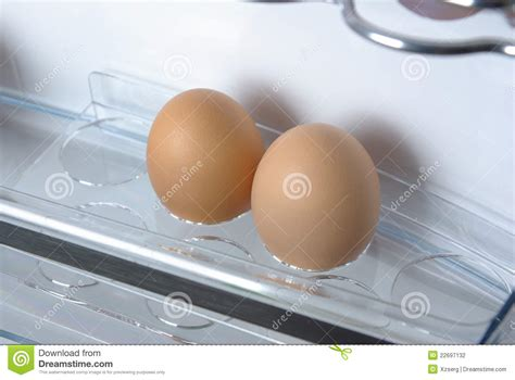 What Is The Shelf Of Fresh Eggs by Eggs In The Fridge Stock Photography Image 22697132