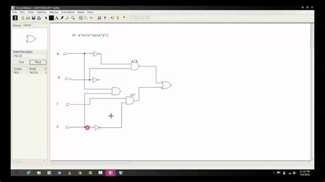 Logic Circuit Diagram Using Circuit Maker Youtube