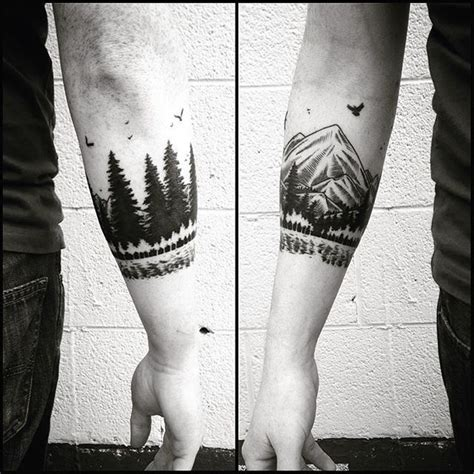 arm tattoo armband forest maybe next idea tattoo pinterest