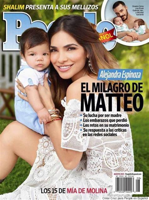 ver fotos del bebe de alejandra espinosa alejandra espinoza posa con su beb 233 matteo para la portada