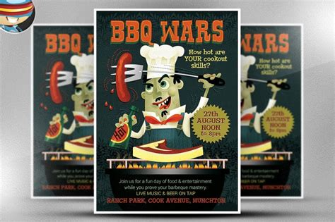 flyer template editable 15 bbq flyer template psd eps and ai format download