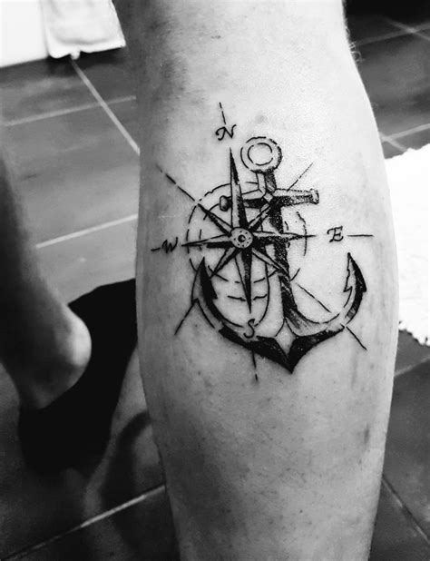 anchor compass tattoo the 25 best anchor compass ideas on