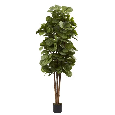 Faux Tree - 6 foot artificial fiddle leaf fig tree potted 5346