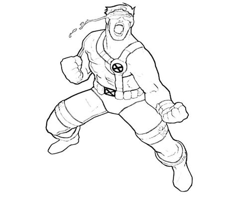 cyclops coloring pages coloring home