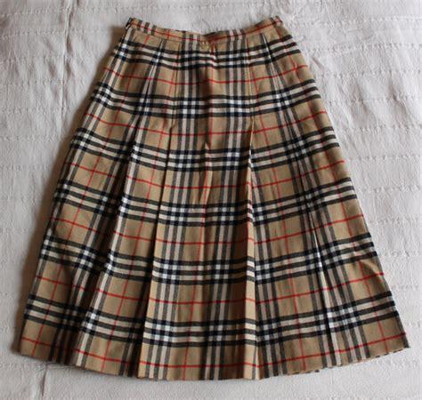 burberry plaid skirt womens kilt check high waist