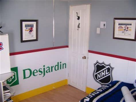 chambre canadien chambre d hockey artiste peintre mario clouston