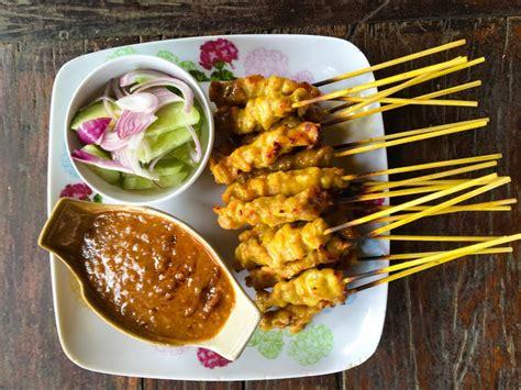 low fat chicken satay with peanut sauce recipe