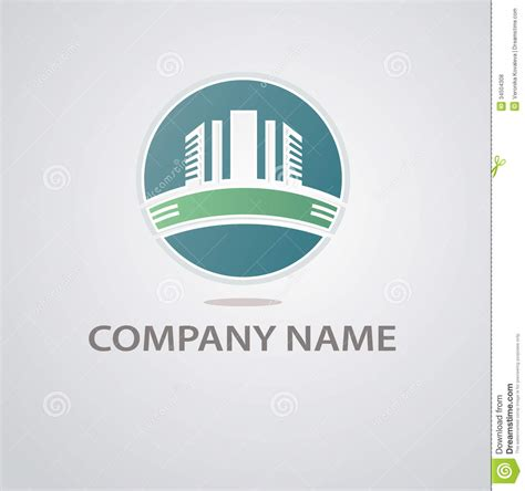 architecture design company abstract architecture building silhouette logo royalty