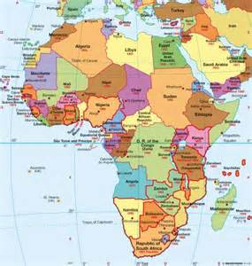 Political Africa Map by Political Map Of Africa With Key Images