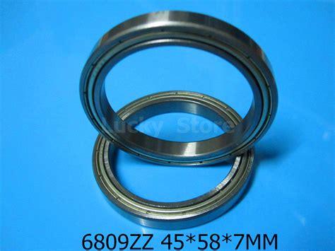 Nsk 6809 Atau 6809 Groove Bearing 6809zz bearing metal sealed bearing thin wall bearing free shipping 6809 6809zz 45 58 7mm chrome