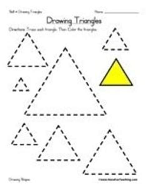 triangle printable worksheets for preschoolers triangle preschool worksheets