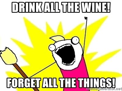 Meme Generator All The Things - drink all the wine forget all the things x all the