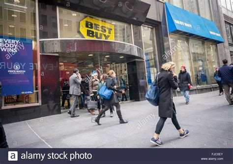 where to buy capacitors in nyc a best buy electronics store in midtown in new york on thursday stock photo royalty free image