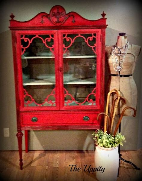 red chalk painted china cabinet 886 best red painted furniture images on